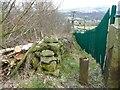 SE0620 : Ripponden Footpath 73 alongside a sewage works by Humphrey Bolton