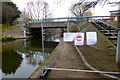 SK5538 : Closed towpath by David Lally