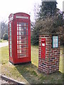 TG0704 : Telephone Box & Kimberley Green Victorian Postbox by Adrian Cable