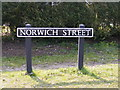 TG0202 : Norwich Street sign by Adrian Cable