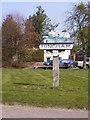 TG0202 : Hingham Town sign by Adrian Cable