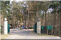 TG1607 : Entrance to Colney Woodland Burial Park by Adrian Cable