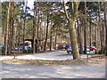TG1607 : Reception & Car Park at Colney Woodland Burial Park by Geographer