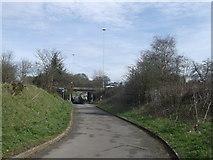 TQ2373 : Cyclepath towards Tibbet's Corner by David Anstiss
