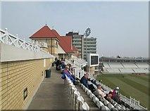 SK5838 : Trent Bridge Cricket Ground: Radcliffe Road Middle Tier by John Sutton