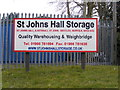 TM3687 : St.Johns Hall Storage sign by Adrian Cable