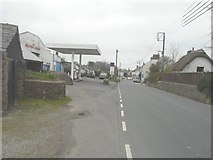 SS5514 : Looking northwest along the A3124 in Beaford by John Baker