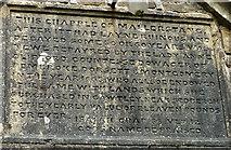 NY7801 : Inscription, St Mary's Church, Outhgill by Karl and Ali