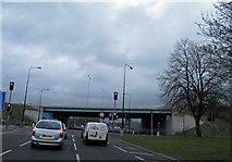 SJ7993 : M60 junction 7 ahead on A56, Sale by Steve  Fareham