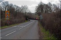 SS5726 : Langham Bridge on the A377 at Chapelton by Roger A Smith