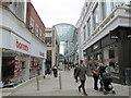SE3033 : Trinity Shopping Centre - Lands Lane entrance by Betty Longbottom