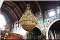 TQ3189 : St John the Baptist, Wightman Road - Chandelier by John Salmon