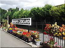 ST1628 : Bishops Lydeard station sign by andrew auger