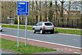 J4274 : 24-hour bus lane sign, Dundonald by Albert Bridge