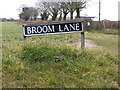 TG1310 : Broom Lane sign by Adrian Cable