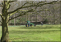SE7170 : Groundsmen at work by Pauline E
