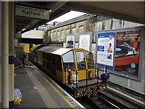 TQ1979 : London Underground maintenance vehicle at Acton Town by Gareth James