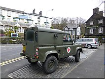 NY3704 : Army Landrover, Ambleside (1) by Kenneth  Allen