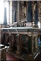 SJ7907 : St Bartholomew's church, Tong -  the Stanley monument by Mike Searle