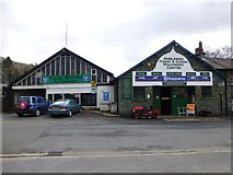 NY3704 : Young Motors / Ambleside Forest & Garden Centre by Kenneth  Allen