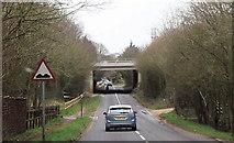 SU5407 : M27 overbridge over Fontley Lane by John Firth
