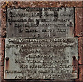 NY3260 : Memorial plaque King Edward 1 monument Burgh by Sands by Martin