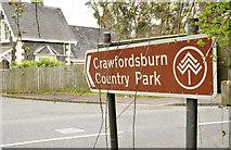 J4681 : Brown direction sign, Crawfordsburn by Albert Bridge