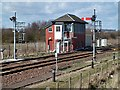 NO7158 : Montrose North Signal Box by Walter Baxter
