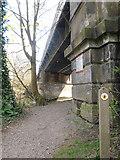 SU9778 : Railway bridge & Thames Path by Row17