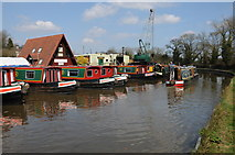SP0272 : Boatyard at Alvechurch by Philip Halling