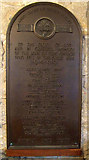NS4863 : WWI memorial plaque by Thomas Nugent