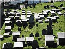 SH1726 : The graveyard of St Hywyn's Church by Dave Croker