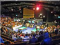 SK3587 : 2013 day 1 session 3 of the World Snooker Championship Sheffield by Steve  Fareham