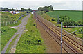 SK7570 : East Coast Main Line at site of Dukeries Junction, 1992 by Ben Brooksbank