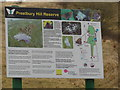 SO9824 : The information board at Prestbury Hill Reserve by Ian S