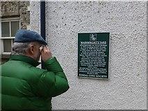 SD5192 : Information board, Wainwright's Yard, Kendal by Kenneth  Allen