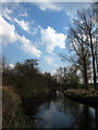 TL8586 : River Little Ouse from Croxton works at Two Mile Bottom by Imogen Radford