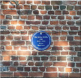 TQ0487 : Blue plaque on Hills House by Graham Horn