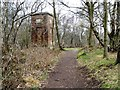SJ8148 : Path to Watermills Chimney, Watermills Wood by Christine Johnstone