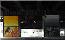 NS5864 : Sport murals under Central Station bridge by Thomas Nugent