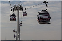 TQ3980 : Emirates Cable Car across the River Thames by Christine Matthews