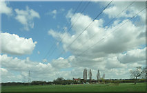SJ4887 : Power Lines and Pylons by Stockswell Road by Peter Bond