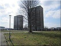 NS5565 : Tower blocks, Kintra Street by Richard Webb