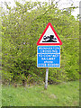 TM3976 : Wenhaston Crossing sign by Adrian Cable