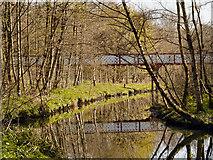 SD7009 : Queen's Park, River Croal and Dobson Bridge by David Dixon