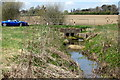 SP7139 : Stream goes under the Akeley Road by Philip Jeffrey