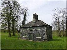 TL6804 : Flint Cottage, Hylands Park by PAUL FARMER