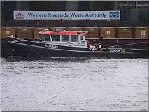 TQ2977 : 'Redoubt', Western Riverside Waste Authority, Cringle Dock SW8 by Robin Sones