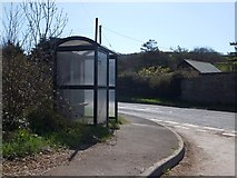 SS4939 : Bus shelter at Heddon Mills by David Smith