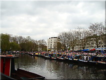 TQ2681 : View of narrowboats moored up at Little Venice for the Canal Cavalcade #5 by Robert Lamb